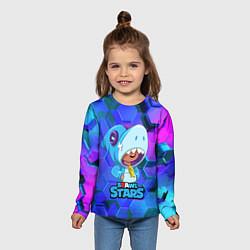 Лонгслив детский Скин акулы Леона цвета 3D — фото 2