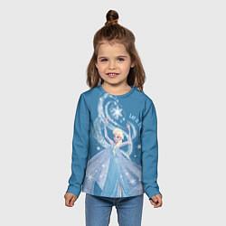Лонгслив детский Принцесса Эльза цвета 3D-принт — фото 2