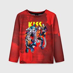 Лонгслив детский KISS: Hot Blood цвета 3D — фото 1