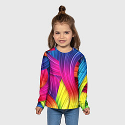 Лонгслив детский Абстракция цвета цвета 3D — фото 2