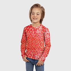 Лонгслив детский Я клубничка цвета 3D — фото 2
