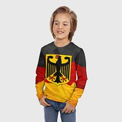 Лонгслив детский Германия: герб цвета 3D-принт — фото 2