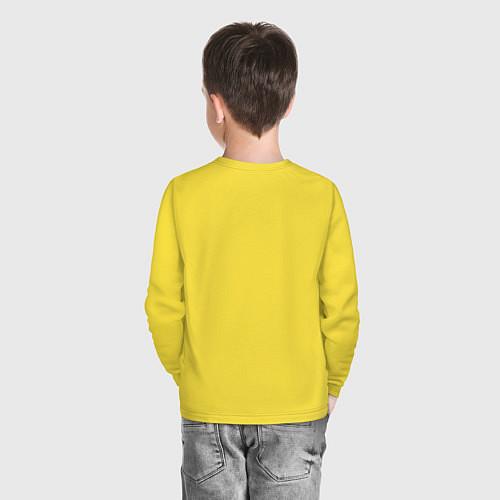 Детский лонгслив Пингвин с шариком / Желтый – фото 4