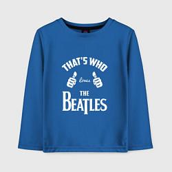 Лонгслив хлопковый детский That's Who Loves The Beatles цвета синий — фото 1