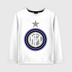 Лонгслив хлопковый детский Inter FC цвета белый — фото 1
