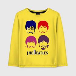 Детский лонгслив The Beatles faces