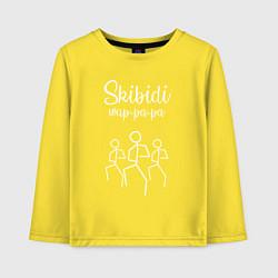 Лонгслив хлопковый детский Little Big: Skibidi цвета желтый — фото 1