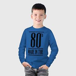 Лонгслив хлопковый детский Made in the 80s цвета синий — фото 2