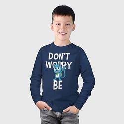 Лонгслив хлопковый детский Dont Worry be Fairy Tail цвета тёмно-синий — фото 2