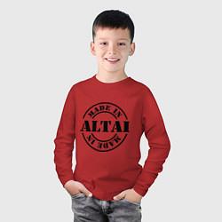 Лонгслив хлопковый детский Made in Altai цвета красный — фото 2