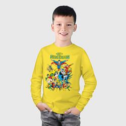Лонгслив хлопковый детский Justice League цвета желтый — фото 2