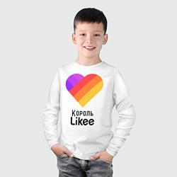 Лонгслив хлопковый детский Король Likee цвета белый — фото 2