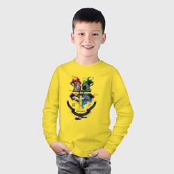 Лонгслив хлопковый детский Гарри Поттер цвета желтый — фото 2