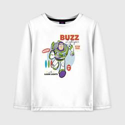 Лонгслив хлопковый детский Buzz Lightyear цвета белый — фото 1