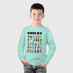 Лонгслив хлопковый детский ROBLOX PIGGY цвета мятный — фото 2