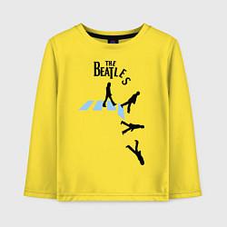 Лонгслив хлопковый детский The Beatles: break down цвета желтый — фото 1