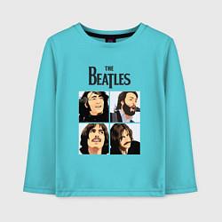 Лонгслив хлопковый детский The Beatles Stories цвета бирюзовый — фото 1