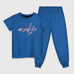 Пижама хлопковая детская Washington Capitals цвета синий — фото 1