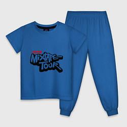 Пижама хлопковая детская AND1 Mixtape tour цвета синий — фото 1