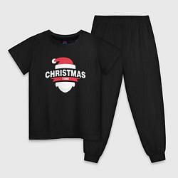 Пижама хлопковая детская Christmas Time цвета черный — фото 1