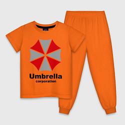 Пижама хлопковая детская Umbrella corporation цвета оранжевый — фото 1