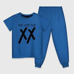 Пижама хлопковая детская We are the XX цвета синий — фото 1