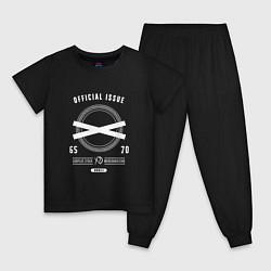 Пижама хлопковая детская The Weeknd: Official Issure цвета черный — фото 1
