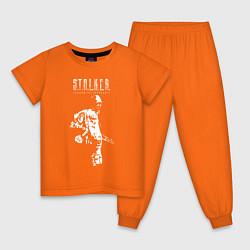 Пижама хлопковая детская STALKER: Shadow of Chernobyl цвета оранжевый — фото 1