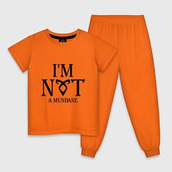 Пижама хлопковая детская I'm not a mundane цвета оранжевый — фото 1