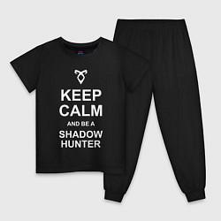 Пижама хлопковая детская Be a Shadowhunter цвета черный — фото 1