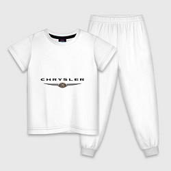 Пижама хлопковая детская Chrysler logo цвета белый — фото 1