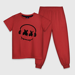Пижама хлопковая детская Marshmello Music цвета красный — фото 1