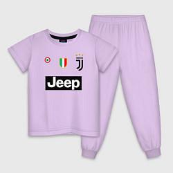 Пижама хлопковая детская FC Juventus цвета лаванда — фото 1