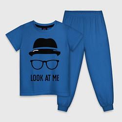 Пижама хлопковая детская Look at me цвета синий — фото 1