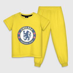 Пижама хлопковая детская Chelsea FC цвета желтый — фото 1