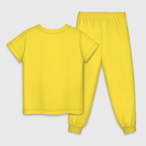 Детская пижама Подруги навеки / Желтый – фото 2