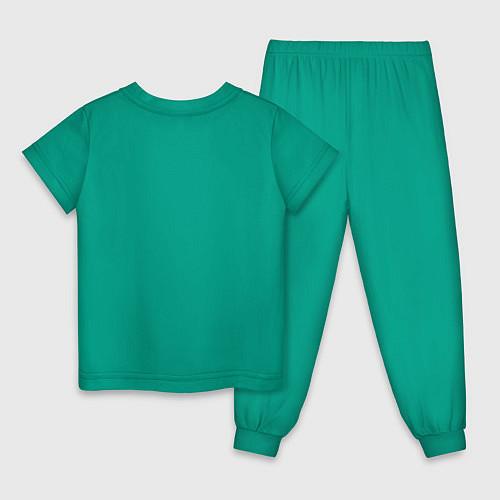 Детская пижама Подруги навеки / Зеленый – фото 2