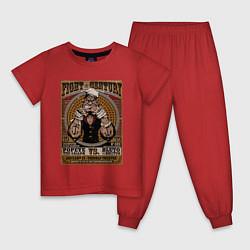 Пижама хлопковая детская Fight Century цвета красный — фото 1