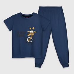 Пижама хлопковая детская Не лезте в душу цвета тёмно-синий — фото 1