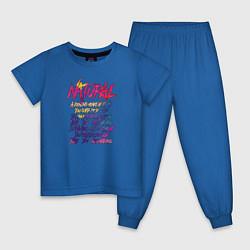 Пижама хлопковая детская Imagine Dragons - Natural цвета синий — фото 1
