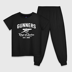 Пижама хлопковая детская Arsenal Guinners цвета черный — фото 1