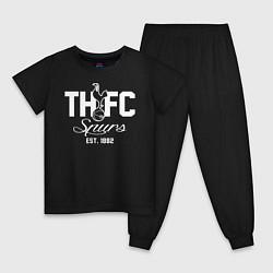 Пижама хлопковая детская THFC Est 1882 цвета черный — фото 1