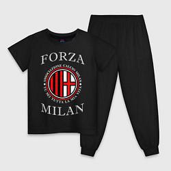 Пижама хлопковая детская Forza Milan цвета черный — фото 1