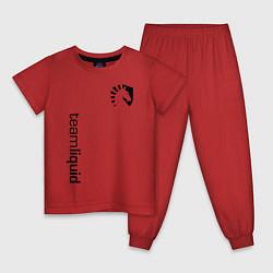 Пижама хлопковая детская TEAM LIQUID цвета красный — фото 1