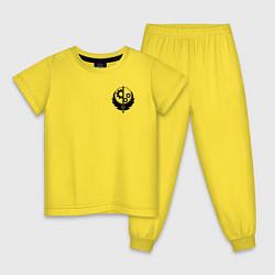 Пижама хлопковая детская Fallout: Brotherhood of Steel цвета желтый — фото 1