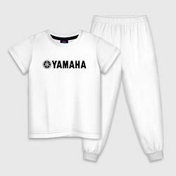 Пижама хлопковая детская YAMAHA цвета белый — фото 1
