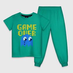 Пижама хлопковая детская Pac-Man: Game over цвета зеленый — фото 1