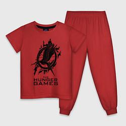 Пижама хлопковая детская The Hunger Games цвета красный — фото 1