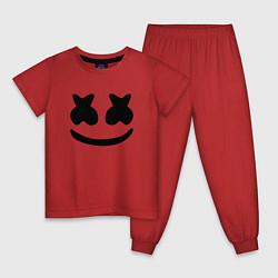 Пижама хлопковая детская ALAN WALKER x MARSHMELLO цвета красный — фото 1