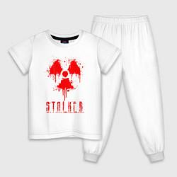 Пижама хлопковая детская S T A L K E R 2 цвета белый — фото 1